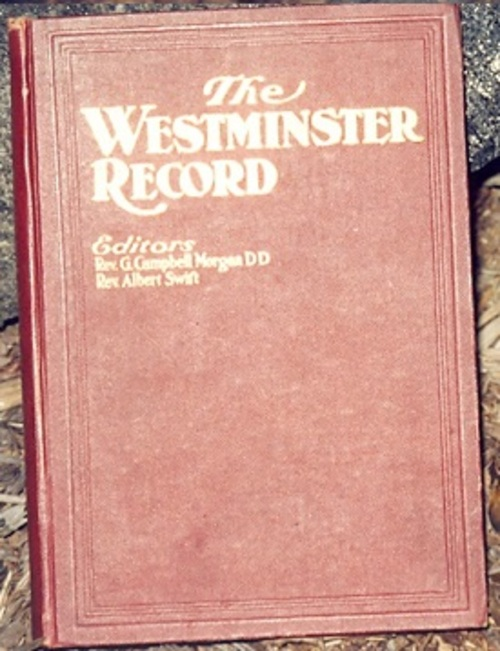 Product picture The Westminster Record - 1905 - G Campbell Morgan